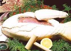 鯛のかぶと焼